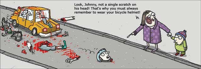 Bike Helmet Law in bicycle crashes from